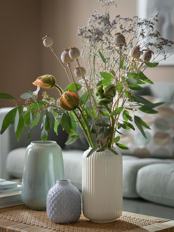 STILREN Váza, fehér, 22 cm