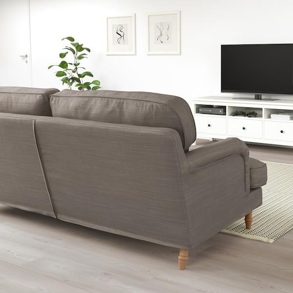 STOCKSUND 3 személyes kanapé, Nolhaga szürke-bézs/világosbarna/fa