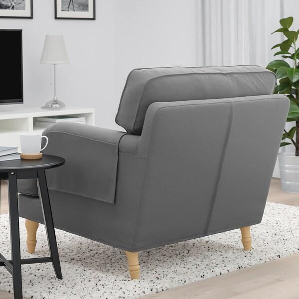 STOCKSUND Fotel, Ljungen középszürke/világosbarna/fa