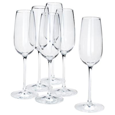 STORSINT pezsgőspohár átlátszó üveg 22 cm 22 cl 6 darabos