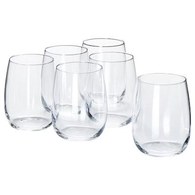STORSINT pohár átlátszó üveg 10 cm 37 cl 6 darabos