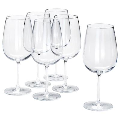STORSINT vörösboros pohár átlátszó üveg 21.5 cm 68 cl 6 darabos