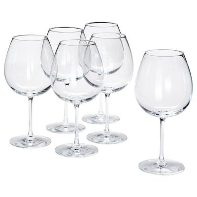 STORSINT vörösboros pohár átlátszó üveg 23.5 cm 67 cl 6 darabos