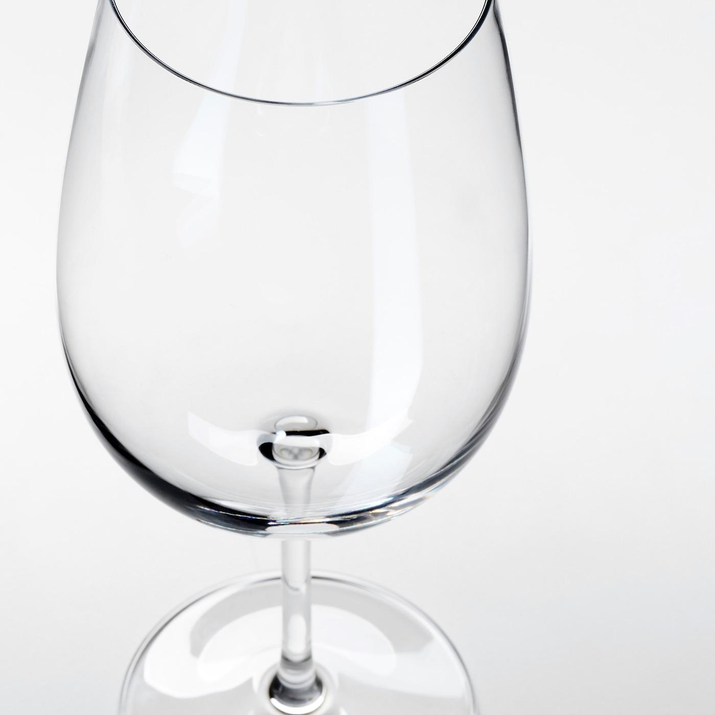 STORSINT Vörösboros pohár, átlátszó üveg, 68 cl