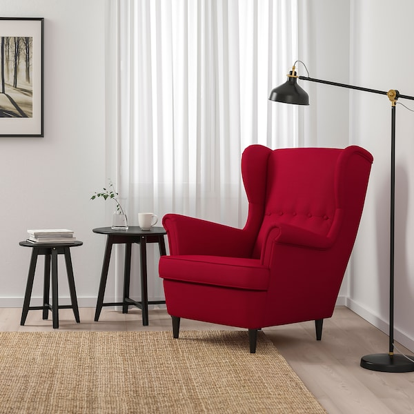 STRANDMON Füles fotel, Nordvalla piros