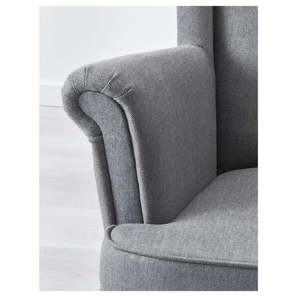STRANDMON Füles fotel, Nordvalla sszürke