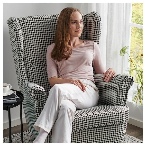 STRANDMON füles fotel Vibberbo fek/bézs 82 cm 96 cm 101 cm 49 cm 54 cm 45 cm