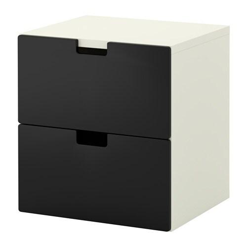 STUVA 2-fiókos szekrény - fekete - IKEA
