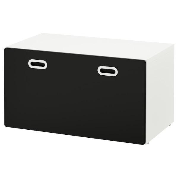 STUVA / FRITIDS pad+játéktároló fehér/tábla felület 90 cm 50 cm 50 cm