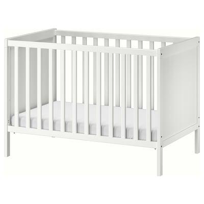 SUNDVIK rácsos ágy fehér 125 cm 67 cm 85 cm 60 cm 120 cm 20 kg