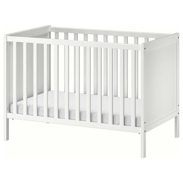 SUNDVIK Rácsos ágy, fehér, 60x120 cm