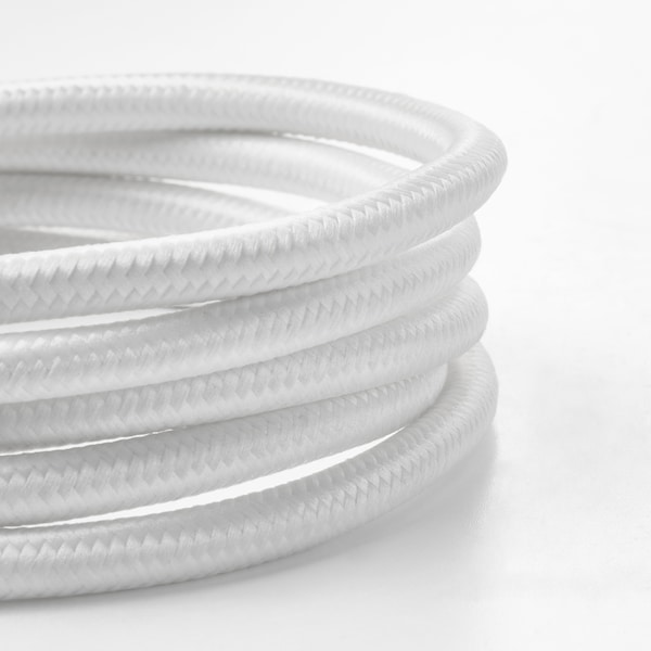 SUNNEBY Vezeték, fehér textil, 1.8 m