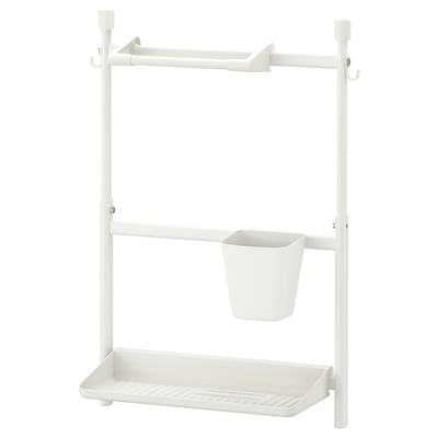 SUNNERSTA Konyhai rendszerező készlet, fúrás nélkül/papírtörlő tartó/edényszárító/tár