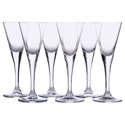 SVALKA Pálinkáspohár készlet, átlátszó üveg, 4 cl