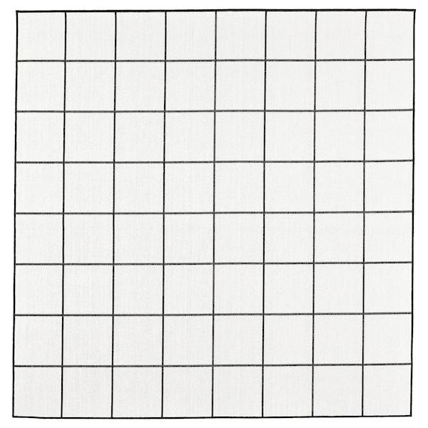 SVALLERUP szőnyeg, síkszövött, bel/kültéri fekete/fehér 200 cm 200 cm 5 mm 4.00 m² 1555 g/m²