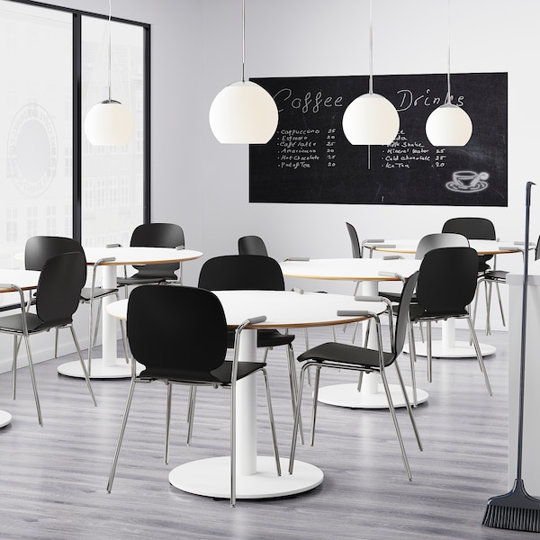 SVENBERTIL Karfás szék, fekete/Dietmar krómozott