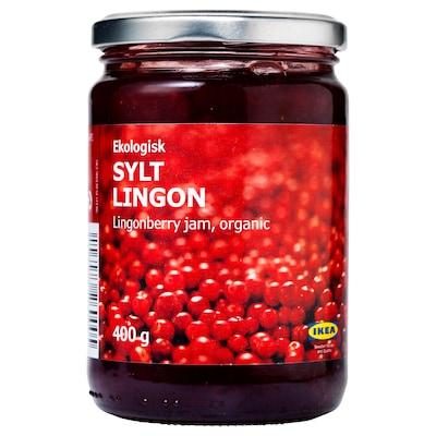 SYLT LINGON Vörösáfonya-lekvár, bio, 400 gr
