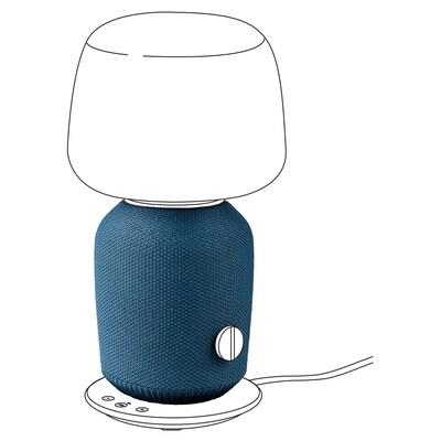SYMFONISK Huzat hangszórós asztali lámpához, kék