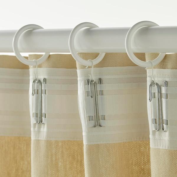 SYRLIG Függönykarika csipesszel, horoggal, fehér, 38 mm