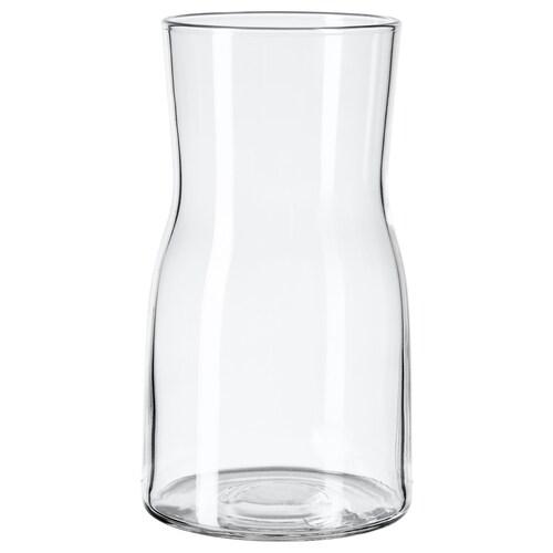 TIDVATTEN váza átlátszó üveg 17 cm