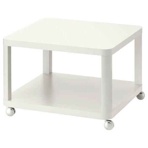 TINGBY görgős dohányzóasztal fehér 64 cm 64 cm 45 cm