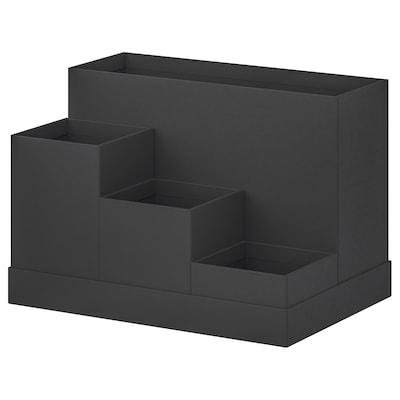 TJENA Íróasztali rendszerező, fekete, 18x17 cm
