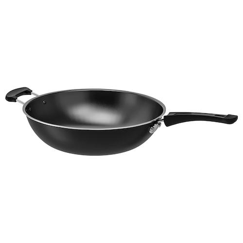 TOLERANT wok fekete 12 cm 33 cm