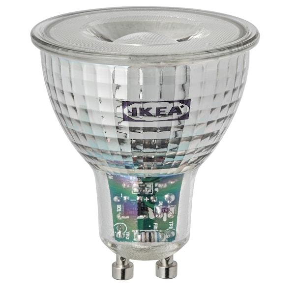 TRÅDFRI LED-es izzó GU10 400 lm, vezeték nélküli szabályozó meleg fehér
