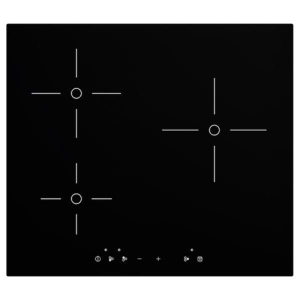 TREVLIG indukciós főzőlap fekete 58.0 cm 51.0 cm 5.6 cm 150 cm 8.13 kg