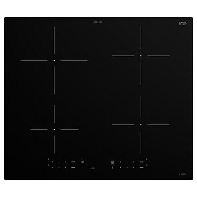 TREVLIG Indukciós főzőlap, IKEA 300 fekete, 59 cm