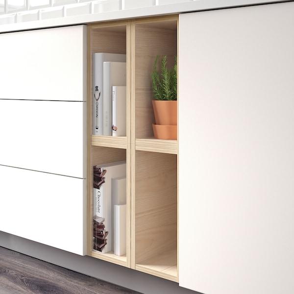 TUTEMO Nyitott szekrény, kőris, 20x37x40 cm