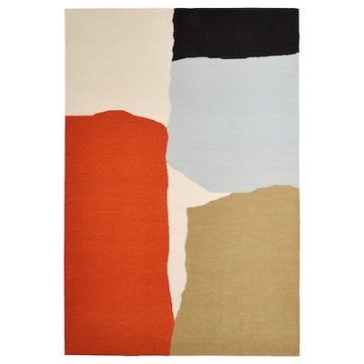 TVINGSTRUP Szőnyeg, síkszövött, kézzel készült/többszínű, 133x195 cm