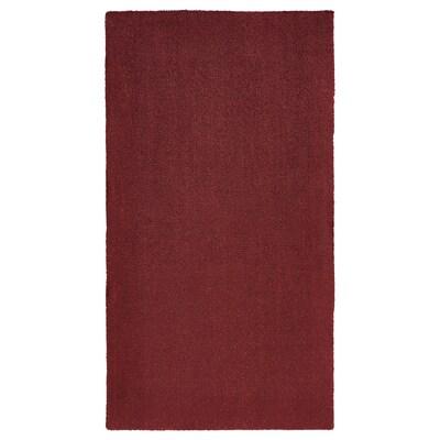 TYVELSE szőnyeg, rövid szálú sötétpiros 150 cm 80 cm 14 mm 1.20 m² 3000 g/m² 1880 g/m² 13 mm