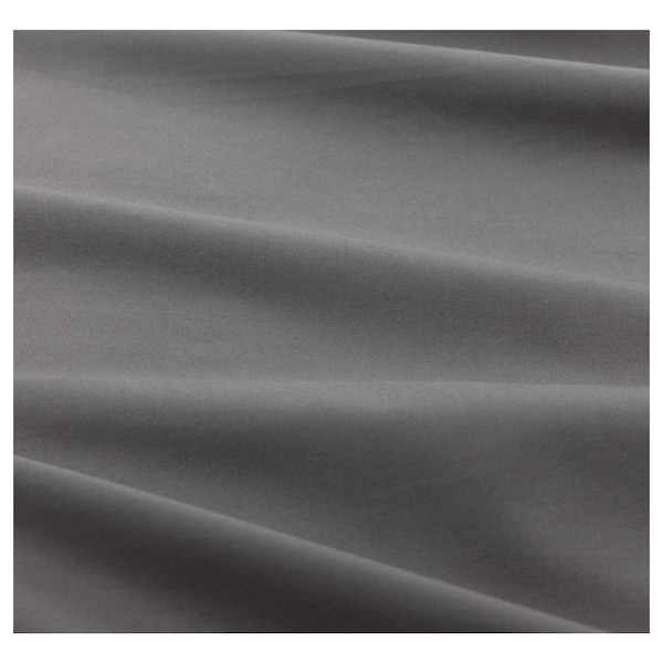 ULLVIDE Gumis lepedő, szürke, 140x200 cm