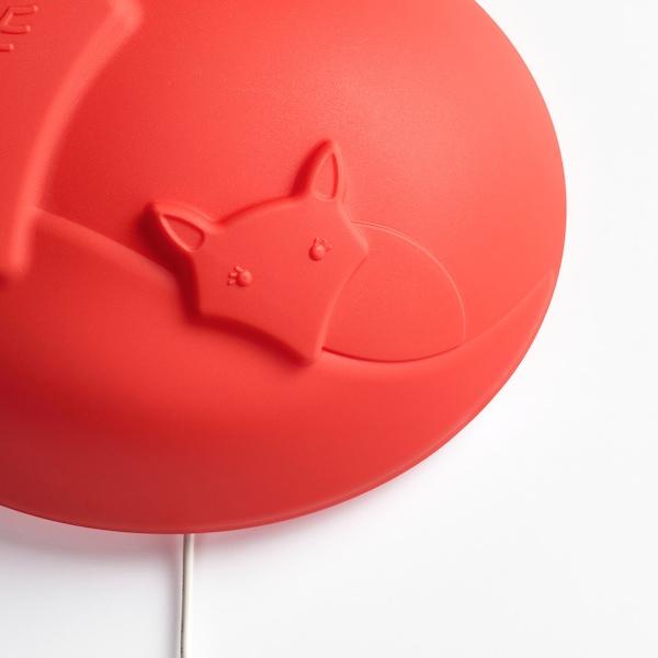 UPPLYST LED-es falilámpa, róka narancssárga