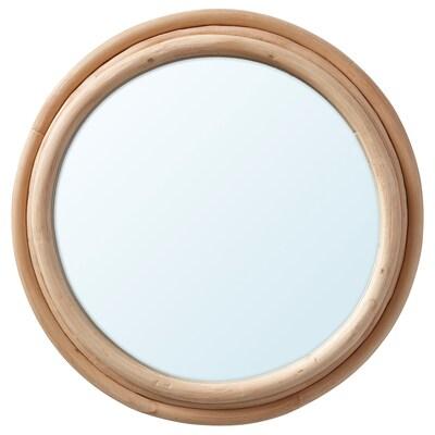 UPPNORA Tükör, rattan, 23 cm