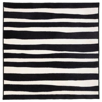 URSKOG Szőnyeg, rövid szálú, zebra/csíkos, 133x133 cm
