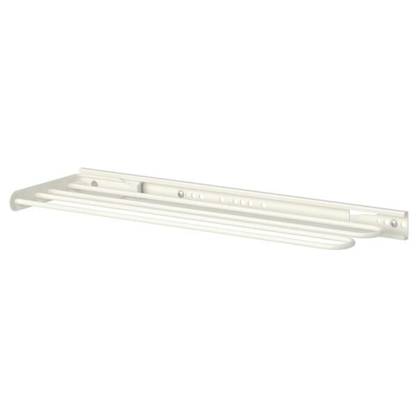 UTRUSTA Törülközősín,kihúzható, fehér, 16 cm