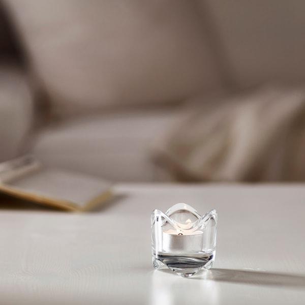 VÄSNAS teamécsestartó átlátszó üveg 6 cm 6 cm