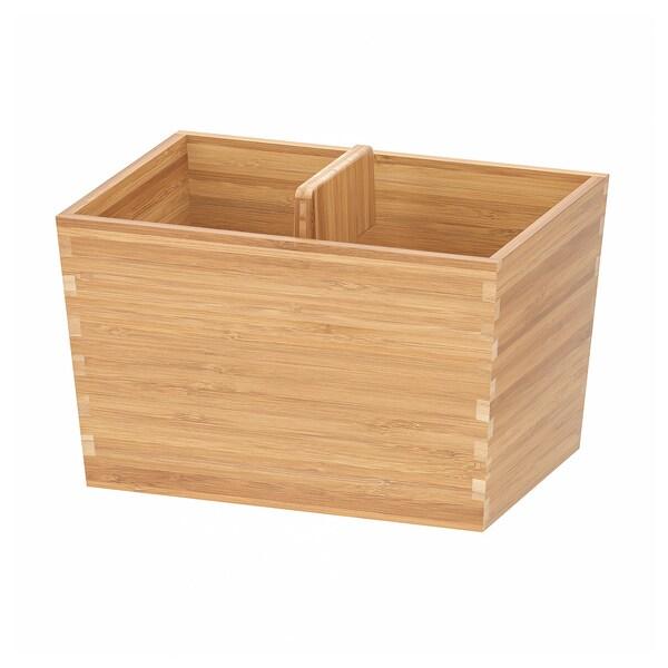 VARIERA doboz füllel bambusz 24 cm 17 cm 16 cm