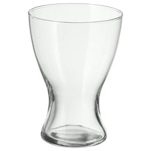 VASEN váza átlátszó üveg 20 cm