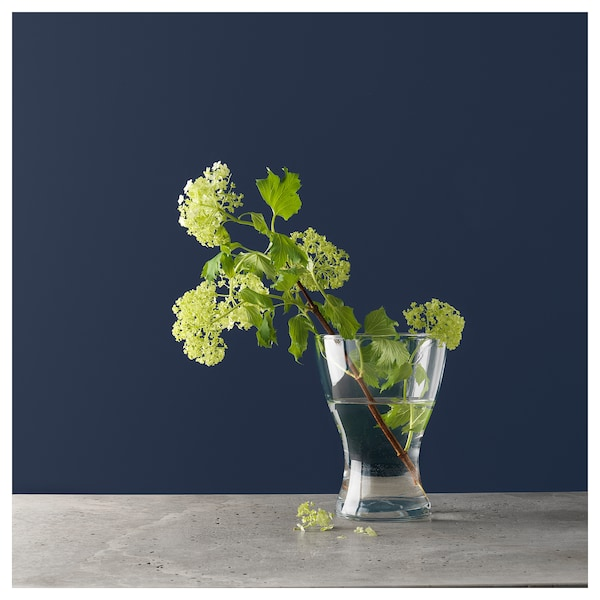 VASEN Váza, átlátszó üveg, 20 cm