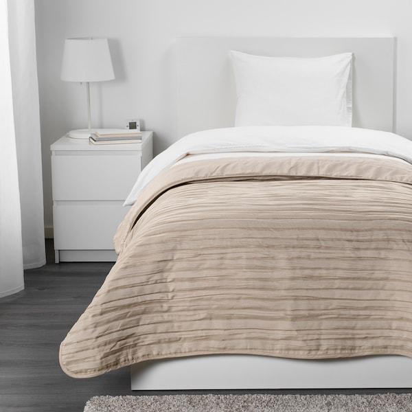 VEKETÅG ágytakaró bézs 250 cm 180 cm