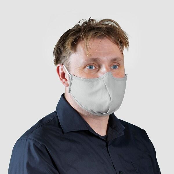 VETSKAP Mosh. maszk, nem orvosi felszerelés, világosszürke, L