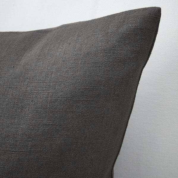 VIGDIS Díszpárnahuzat, fekete-szürke, 50x50 cm