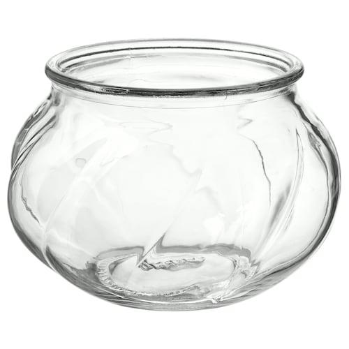 VILJESTARK váza átlátszó üveg 8 cm