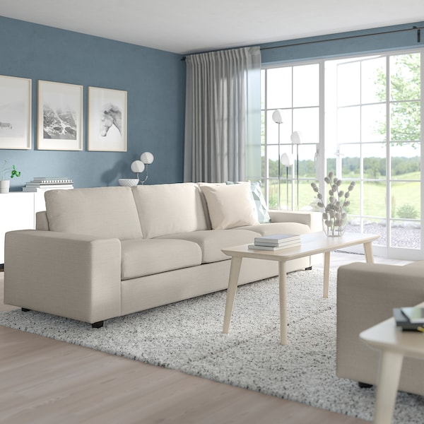 VIMLE 3 személyes kinyitható kanapé, széles karfákkal/Gunnared bézs