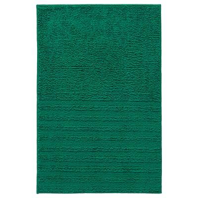 VINNFAR fürdőszobaszőnyeg sötétzöld 60 cm 40 cm 0.24 m² 1310 g/m²
