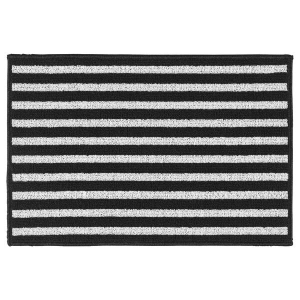 VINSTRUP Lábtörlő, fekete/szürke, 40x60 cm