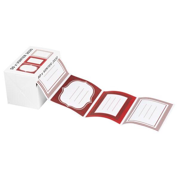 VINTER 2020 Matricák, fehér/piros, 50 darab
